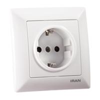 پریز برق فضل الکتریک مدل ایران الیزه