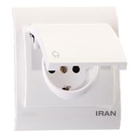 پریز برق ارت درب دار فضل الکتریک مدل ایران 2009