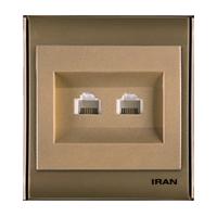 سوکت تلفن دو قلو فضل الکتریک مدل ایران 2008