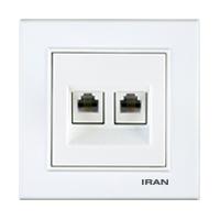 سوکت تلفن دوقلو فضل الکتریک مدل ایران برلیان