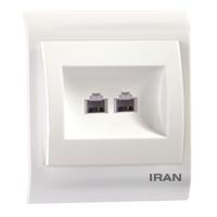 سوکت تلفن دو قلو فضل الکتریک مدل ایران 2009