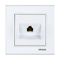 سوکت تلفن تک فضل الکتریک مدل ایران برلیان