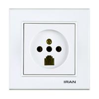 پریز تلفن دوکاره فضل الکتریک مدل ایران برلیان