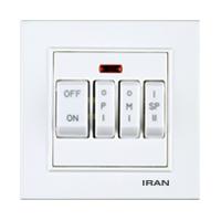 کلید کولر چهار پل فضل الکتریک مدل ایران برلیان