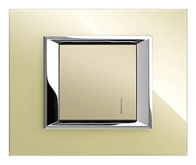 کلید یک پل فضل الکتریک مدل دیاموند کریستال بژ