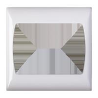 قاب دور سفید مدل شمس