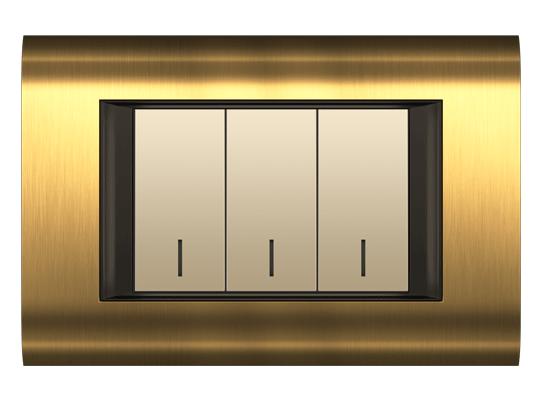 قاب M3 طلایی مدل سیستما متال فضل الکتریک