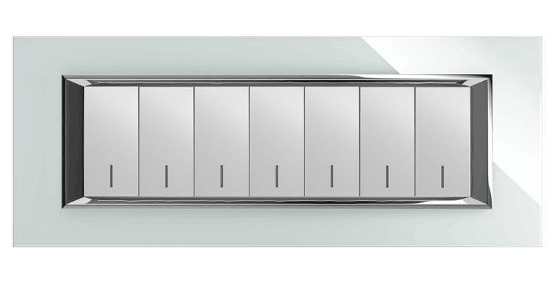قاب هفت پل مدل دیاموند کریستال سفید