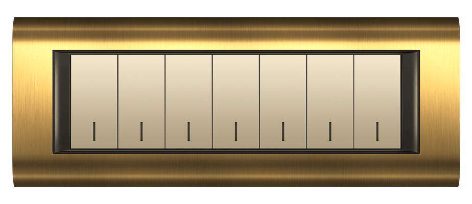 قاب M7 طلایی مدل سیستما متال فضل الکتریک