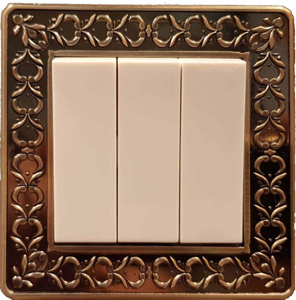 کلید 3 پل فضل الکتریک مدل برلیان پارما