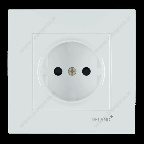 پریز برق محافظ دار آسا دلند پلاس سفید
