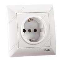 پریز برق ارت ایران الکتریک الیزه سفید