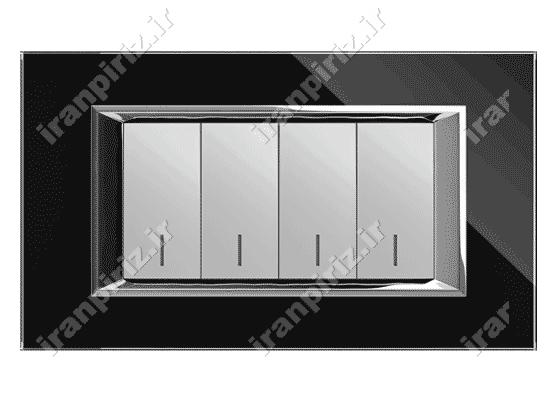 کلید و پریز فضل الکتریک مدل دیاموند 4 پل