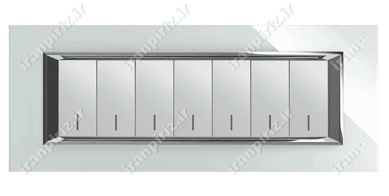 کلید و پریز فضل الکتریک مدل دیاموند 7 پل سفید